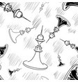 hand drawn chess seamless vector image