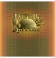 menu with vintage pattern vector image