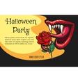 Halloween Vampire Party Poster vector image