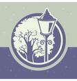 lantern and tree vector image