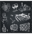 Set of wine drawings Sketches Hand-drawing vector image