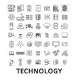 technology computer it innovation science vector image