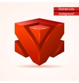 abstract red cube vector image vector image