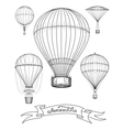Aeronautica poster with hot air balloons vector image vector image