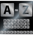 Alphabet Metal plates with rivets EPS 8 vector image vector image