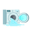 automatic broken washing-machine with front vector image vector image