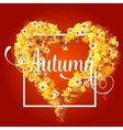 Autumn Frame in Shape of Heart vector image vector image