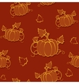 Autumn seamless pattern with pumpkin vector image vector image