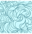 Beautiful seamless pattern with waves vector image