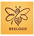 bee logo bee honey vector image