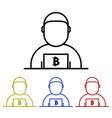 bitcoin miner icon vector image vector image