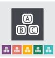 Blocks flat icon vector image