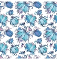blue lotus pattern vector image vector image
