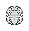brain icon flat isolated on white background vector image vector image