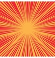 Bright burst background retro comic pop art vector image vector image