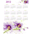 calendar design for 2012 with floral ornament and vector image vector image