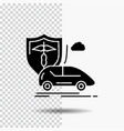 car hand insurance transport safety glyph icon on vector image