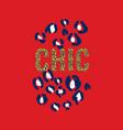 chic glittered t-shirt and animal fashion print