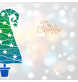christmas greeting card in minimalist style with vector image vector image