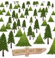 Christmas tree farm vector image vector image