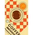 Coffee and Orange Cupcake vector image vector image