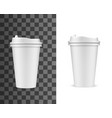 coffee cup mockup fast food drink paper cup vector image