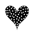 contour heart love with points design decoration vector image vector image