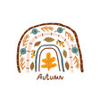 creative autumn rainbow with lettering vector image