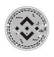 crypto currency binance black and white symbol vector image vector image
