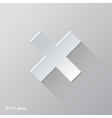 Delete Flat Icon Design vector image vector image
