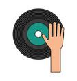 dj vinyl symbol vector image vector image