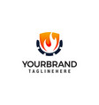 flame industry logo design concept template oil vector image