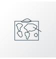 geography icon line symbol premium quality vector image