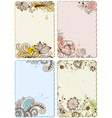 hand drawn floral cards vector image vector image