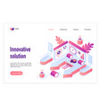 innovative solution landing page template vector image vector image