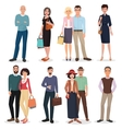 International people and couples with shopping vector image
