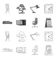 isolated object of furniture and work sign vector image vector image