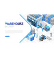 isometric design warehouse vector image vector image