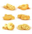 italian pasta and spaghetti 3d realistic vector image vector image