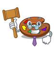 judge palette mascot cartoon style vector image