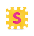 letter S written with alphabet puzzle vector image