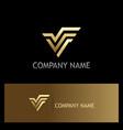 letter v gold logo vector image vector image