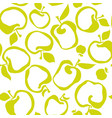 lime green color simple flat apple fruit seamless vector image vector image