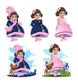 little girl princess vector image vector image