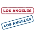 Los Angeles Rubber Stamps vector image vector image