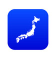 map japan icon digital blue vector image vector image