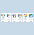 mobile app onboarding screens sleeping mode vector image