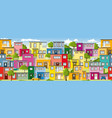 modern colorful houses also usable as a vector image