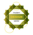 modern icon design logo element with business vector image vector image