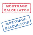 mortgage calculator textile stamps vector image vector image
